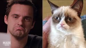 Grumpy Face Meme - jake johnson imitates popular internet memes video