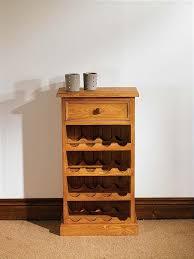 mottisfont waxed small floor standing wine rack