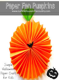 paper fan pumpkin decorations decoration fans and craft