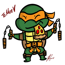 turtle clipart michelangelo pencil and in color turtle clipart