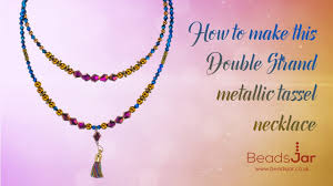 double strand beaded necklace images How to make this double strand metallic tassel necklace 144 368 jpg