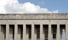 architect donald barthelme u0027s hidden signature on the hall of state