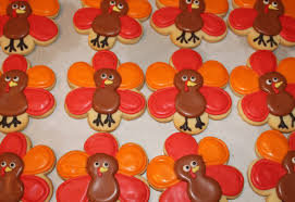 turkey thanksgiving favors decorated sugar cookies 1