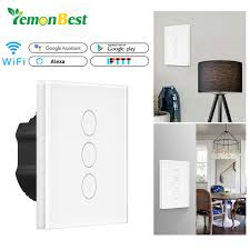 alexa light switch dimmer smart light dimmer in wall touch control wifi light switch work with