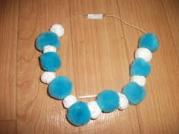 preschool crafts for kids easy snowball necklace craft