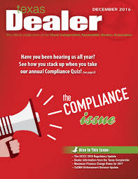 Independent Auto Dealer Floor Plan Texas Dealer December 2016 By Texas Independent Auto Dealers