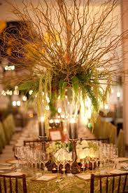 David Tutera Fairy Lights Willow Branch Fern And Moss Rustic Centerpiece Created By David