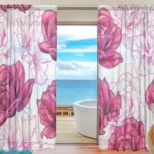 Sheer Door Curtains Online Shop Sheer Door Curtain Panels W55x L78 Inch W55xl84 Inch