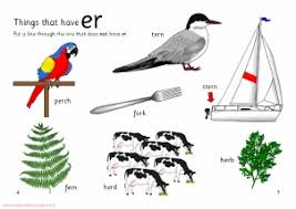words with er phonics activities and printable teaching
