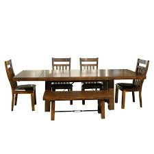 canyon creek 6 piece dining set table with 4 side chairs and