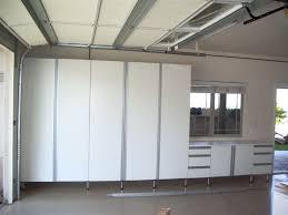 Garage Storage Cabinets Exterior Minimalist Garage Design With High Lockers And Cabinets