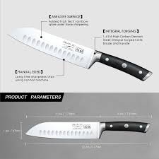 shan zu santoku knife 7 inches german high carbon stainless steel