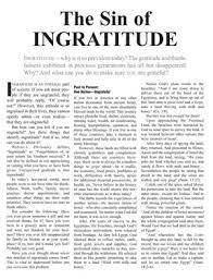 sin ingratitude