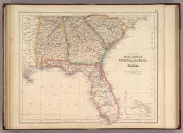 Georgia South Carolina Map Of South Carolina Georgia Alabama And Florida Rogers Henry