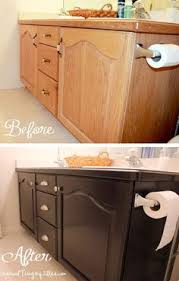 staining oak cabinets an espresso color diy tutorial house and