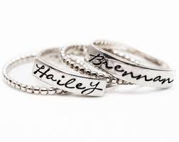 day rings personalized stackable rings name rings personalized by namejewelrydesigns hint