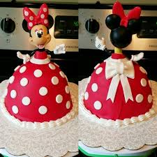 Red Minnie Mouse Cake Decorations Minnie Mouse Doll Cake Cake Decor Pinterest Minnie Mouse