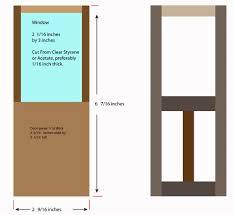 making custom doors for dollhouses and model buildings