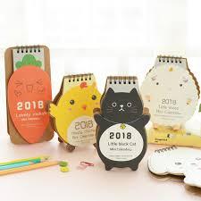 calendrier photo bureau nouveau 2018 beau dessin animé animaux série mini table calendriers