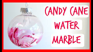 diy candy cane marble ornaments how to make water marble