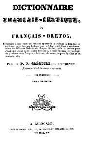 Annexe Iii Modèle D Arrêté Emportant Blâme Les Dictionnaire Français Celtique G De Rostrenen Tome 1 1834