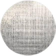unique loom la jolla gray 12 ft 2 in x 12 ft 2 in round rug