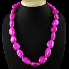 pink beads necklace images Pink onyx necklace natural single strand untreated beads gemsmore JPG