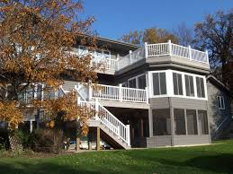 multi level deck with screened porch and sunroom archadeck