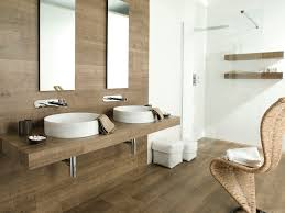 Wood Tile Bathroom by Perfect Wooden Tiles For Bathroom In Minimalist Interior Home