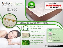 galaxy natural organic latex mattress ecofusion 12