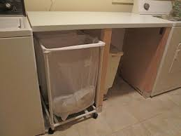 Laundry Sorter With Folding Table Furniture White Laundry Folding Table With Storage And