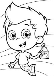 preschool bubble guppies coloring pages cartoon coloring pages