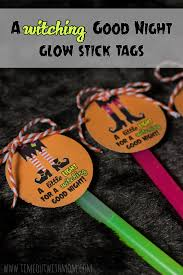 7 glow stick gift tags for halloween halloween favors favor