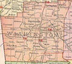 springs washington map washington county arkansas 1909 map