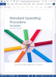 ms templates 36 page standard operating procedure sop template ms word