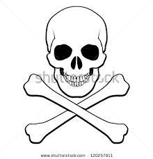 skull crossbones tattoo biker jacket vector stock vector 468765833