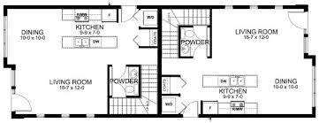 duplex floor plans for narrow lots narrow lot contemporary duplex house plan hunters