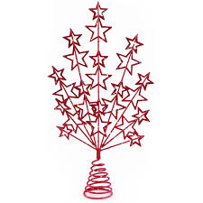 38cm shooting star wire tree topper red tree decorations