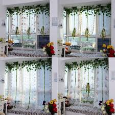 balcony curtain hot embroidered flowers tulle window screens door balcony curtain