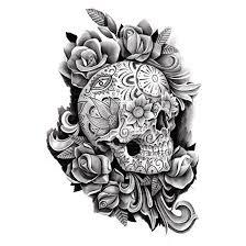 of the dead sugar skull design