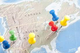 Map Of United States Of America by Image Of Thumb Tacks Pinned Into Locations On Map Of Usa Freebie
