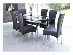 Black Glass Dining Table And 4 Chairs Dining Room Small Glass Top Dining Table And Chairs Circle