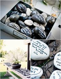 wishing rocks for wedding get creative wishing stones wedding guest book weddbook