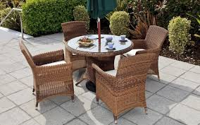 Garden Patio Table Furniture Comfortable Garden Furniture Set With Wicker Rattan