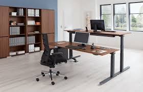 Schreibtisch Kufen Crew Sitz Stehtisch Mit C Fußgestell 180x80 Cm Elektromotorisch