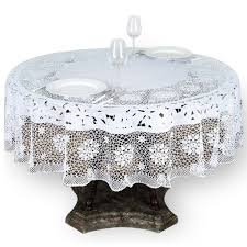 lace vinyl table covers 70 eco friendly white 0 6mil thick disposable waterproof lace vinyl