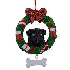 black pug ornament promotion shop for promotional black pug