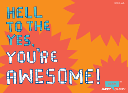 you re awesome postcard congratulations ecard american greetings