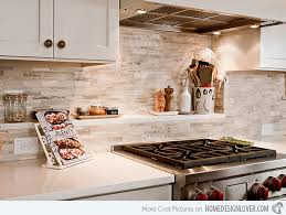 limestone backsplash kitchen 15 beautiful kitchen backsplash ideas home design lover