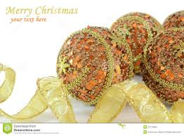 gold and orange christmas decorations stock photos image 22114893